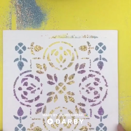 How To Make Easy Glitter Stencil Art With Just 3 Tools