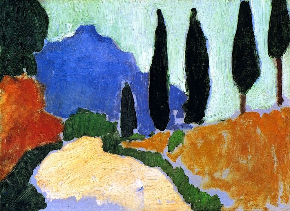 Cypresses Andre Derain - 1907 | Andre derain, Fauvism art, Fauvism