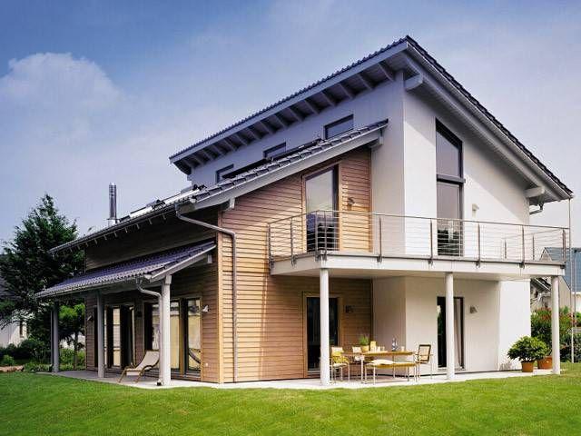 Moderne häuser mit versetztem pultdach  Musterhaus Bad Vilbel - Plan 676.3 von SchwörerHaus KG | Home ...