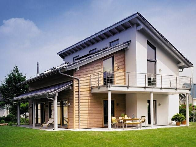 Moderne häuser versetztes satteldach  Architektenhaus - versetztes pultdach | Dream Houses | Pinterest ...