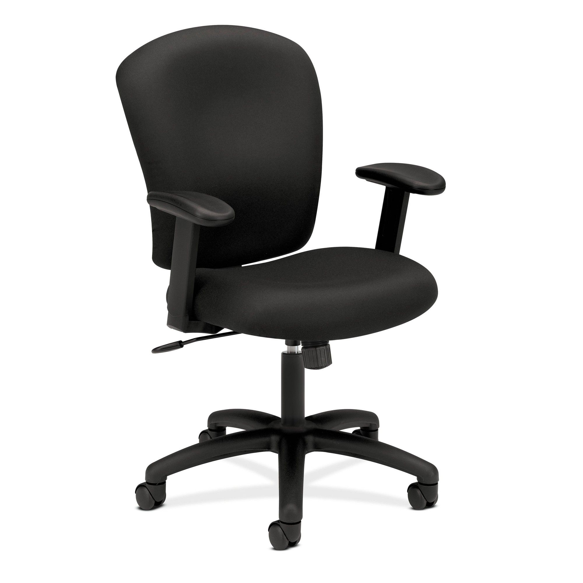 Mid Back Office Chair with Arms Black HON Black office
