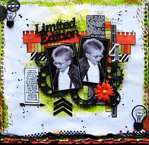Another DT layout for 2 Crafty Chipboard.     By Di Garling