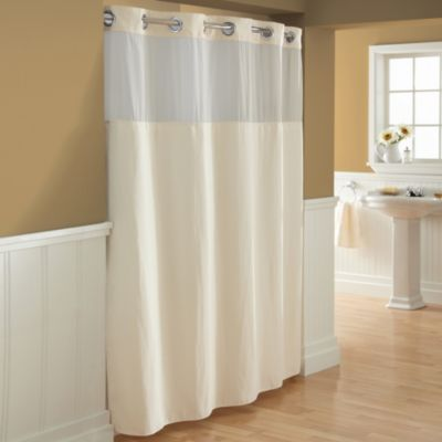 Hookless Waffle 71 X 86 Fabric Shower Curtain In Cream Fabric