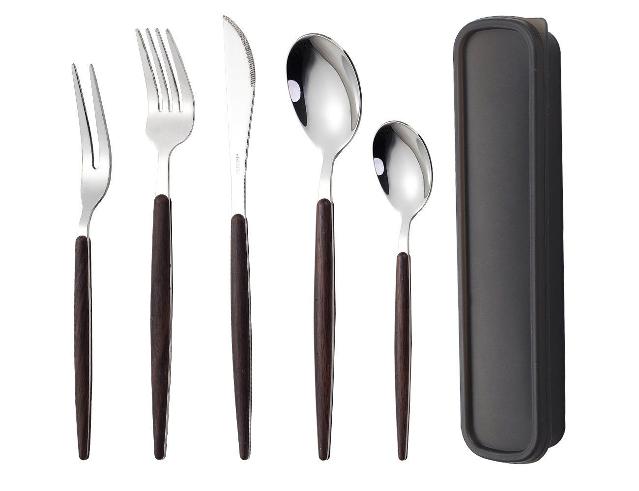 Worthbuy Stainless Steel Travel Utensils With Case 6 Piece