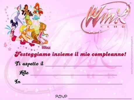 Winx: invito di compleanno | Wings club birthday | Pinterest