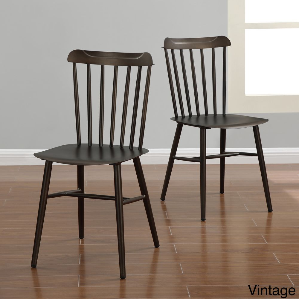 Industrial Metal Windsor Chairs Set Of 2 Overstock Shopping  # Vaderetro Muebles