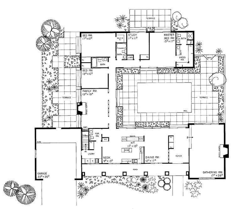 Interior Courtyard House Plans Pinterest Courtyard House Plans Interior Courtyard House Plans Ranch House Plans