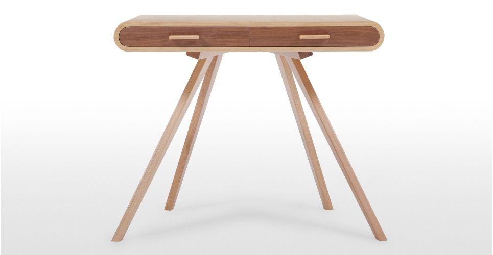 camber desk, white and oak | bureaus, desks and simple desk, Mobel ideea
