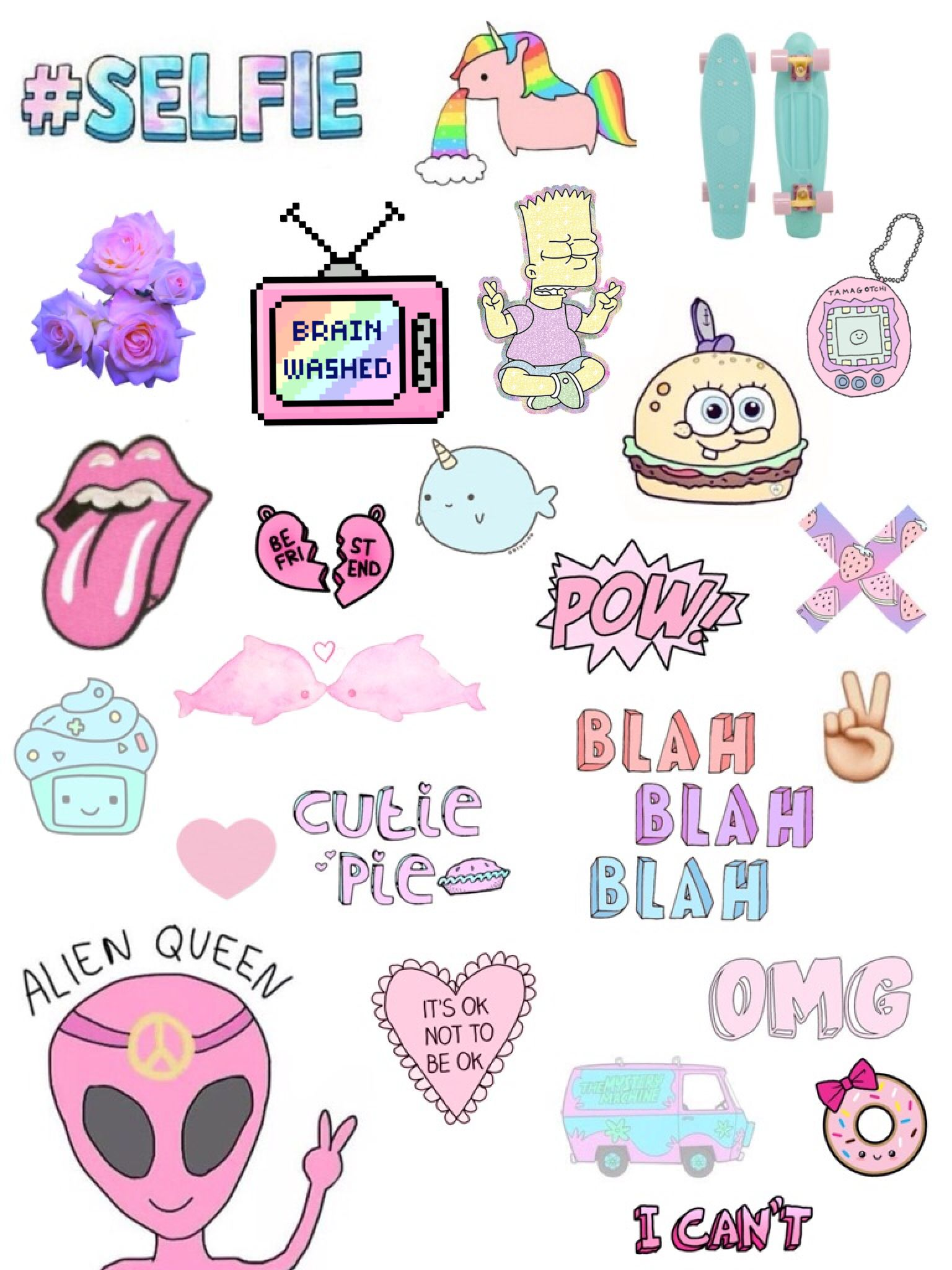 Pin By Emme Honigstock On اشياء كيوت Tumblr Stickers Cute Stickers Aesthetic Stickers