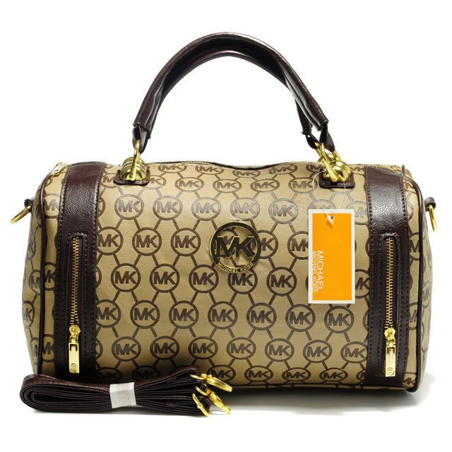 Michael Kors Quilted Flap Large Brown Satchels