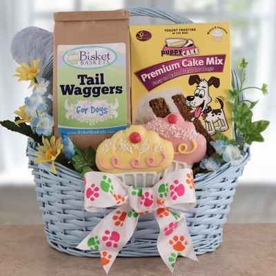 Dog Picture Gift Basket Cookies
