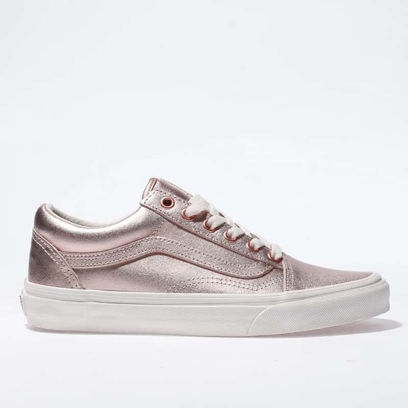 4a16112df7f womens rose gold vans old skool trainers