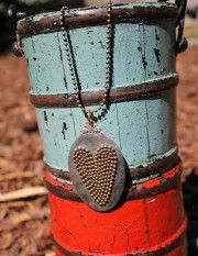 Beaded Heart Necklace - Dang Chicks