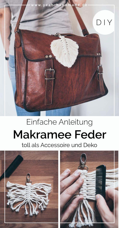 DIY Makramee Feder Anleitung • Yeah Handmade