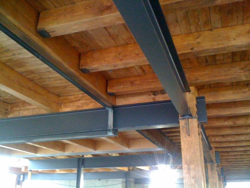 Steel and wood support beam google search survival for Structural beams for houses