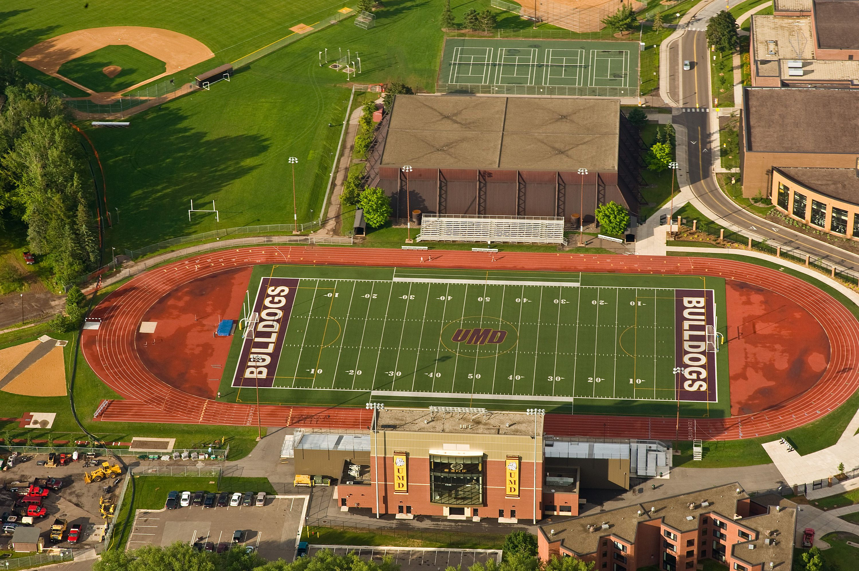 James S Malosky Stadium Aerial View Named After Legendary