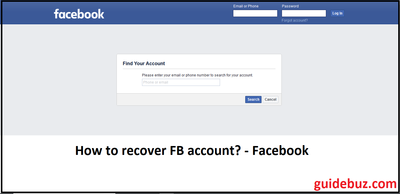 How To Recover Facebook Password Without Email And Phone Number Account Recovery Facebook Support Accounting