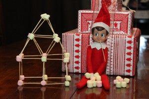 Elf on the Shelf marshmallow toothpick house