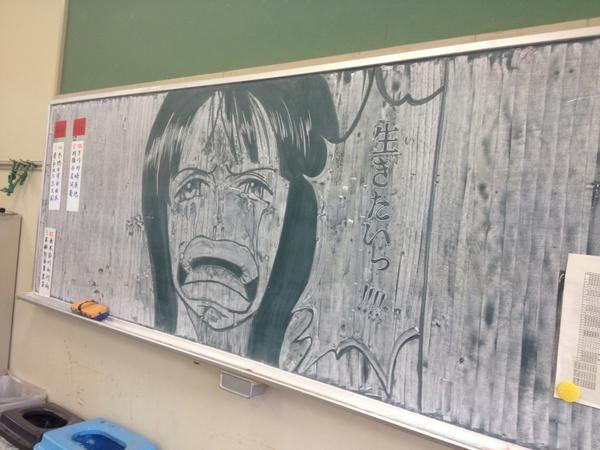 黒板アート 集めてみた 黒板アート 黒板チョークアート クールな絵