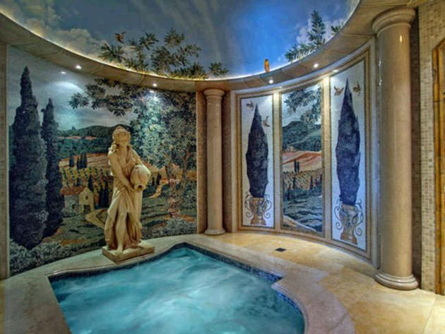 Roman Spa Indoor Hot Tub Estate Homes Mansions Homes