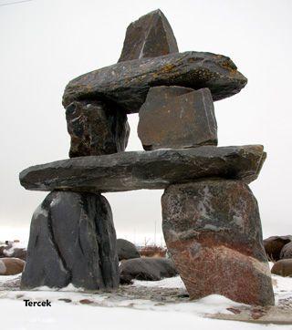 Inuit Inukshuk Alaska Rock