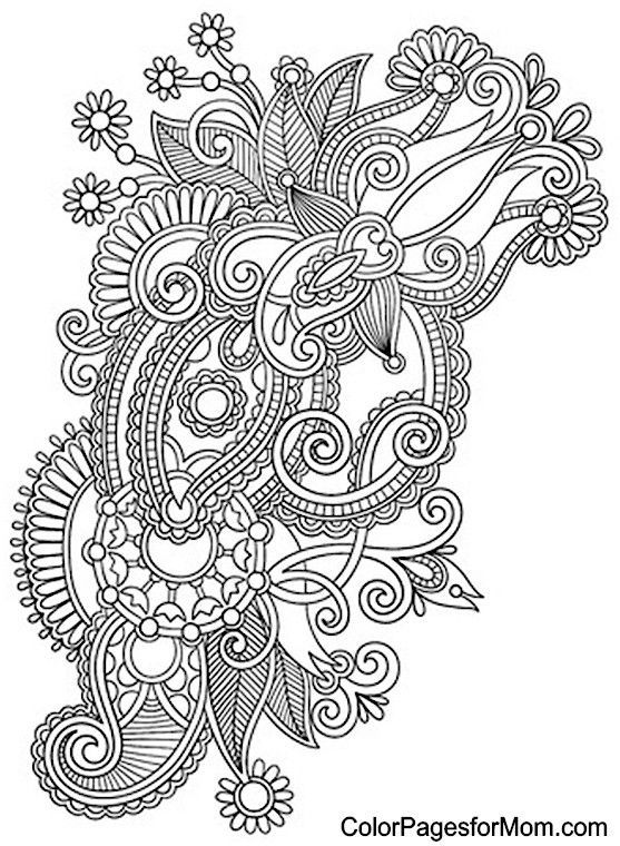 photo relating to Printable Adult Coloring Pages Paisley named Cost-free printable paisley mandala coloring webpage. Grownup