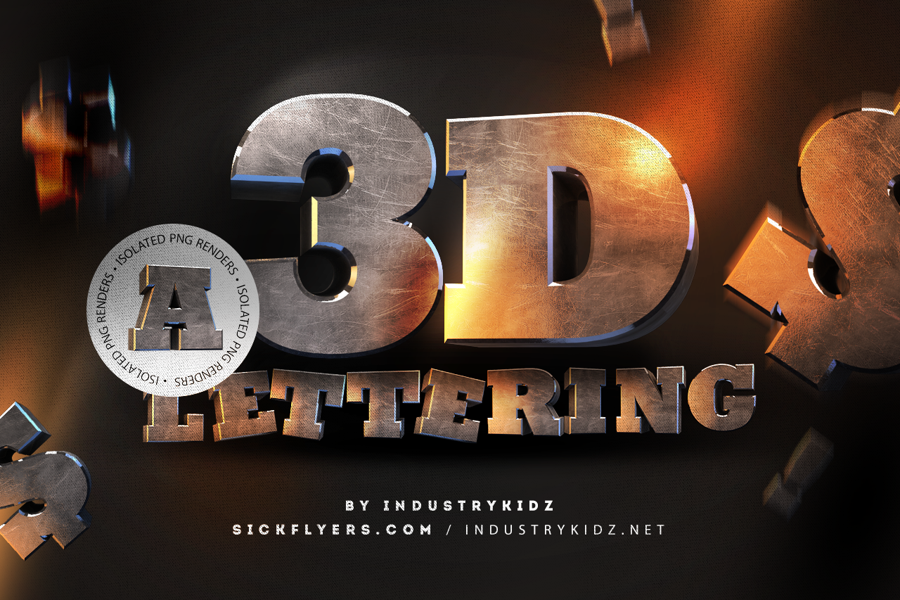 Download Free 3D Lettering Pack | Lettering, Photoshop text effects