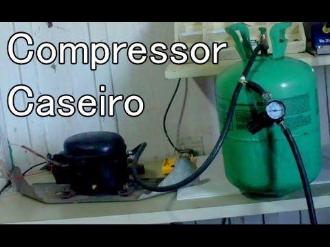 Como Fazer Um Compressor Caseiro Com Motor De Geladeira Youtube