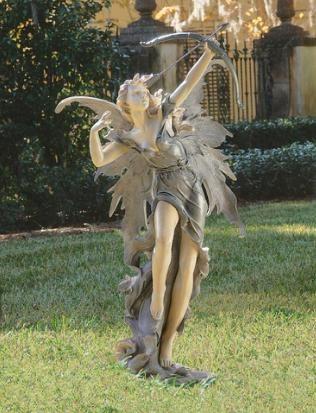 Archer Fairy Garden Sculpture Large 4 Tall Fantasy European Lawn Statue Fairy Statues Garden Statues Outdoor Statues