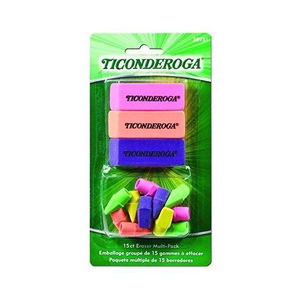 Ticonderoga Office and School Eraser Combination Set, 15 Eraser... ❤ liked on Polyvore featuring home, home decor, office accessories and colorful erasers