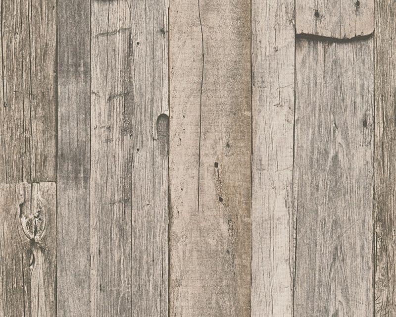 Slaapkamer Hout Behang : As creation dekora natur behang hout slaapkamer