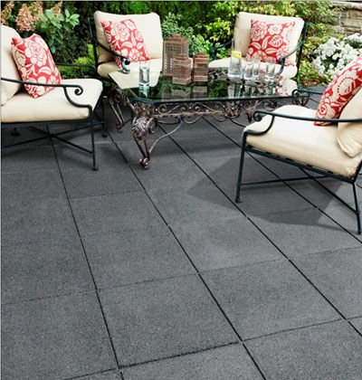Recycled Tire Tiles Outdoor Rubber