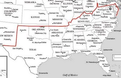 Finally! A map of the The Mason - Dixon Line that shows the ...