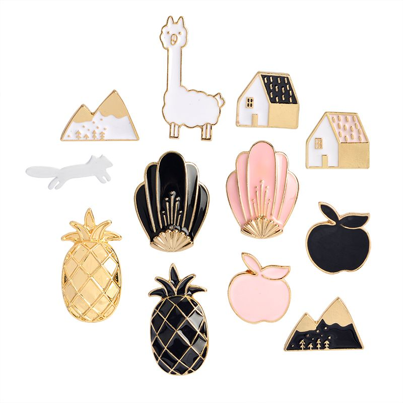 Home & Garden 1 Pcs Cartoon Colorful Animal Metal Badge Brooch Button Pins Denim Jacket Pin Jewelry Decoration Badge For Clothes Lapel Pins