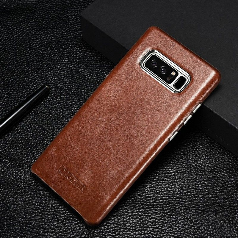 Icarer Samsung Galaxy Note 8 Genuine Leather Case Back Cover Slim Vintage Premium Cowhide Real Leather Cas Leather Phone Case Samsung Galaxy Note 8 Galaxy Note