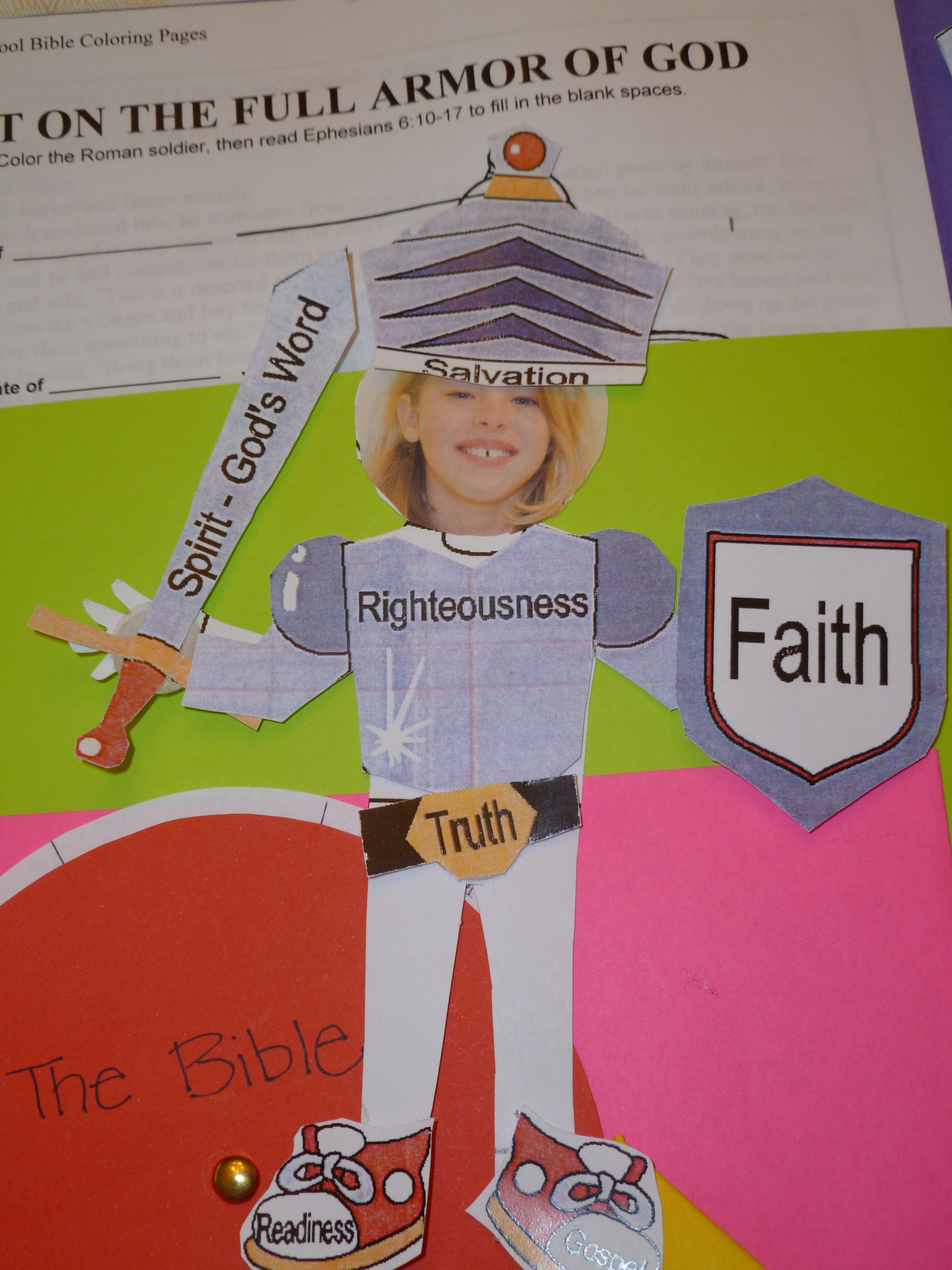 Suiting Upthe Full Armor Of God Study The Bible Lapbook