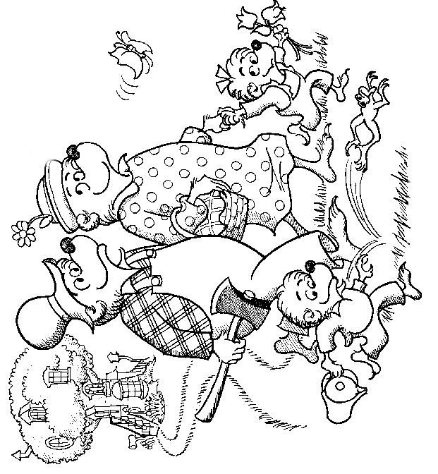 the berenstain bears coloring pages - photo#22