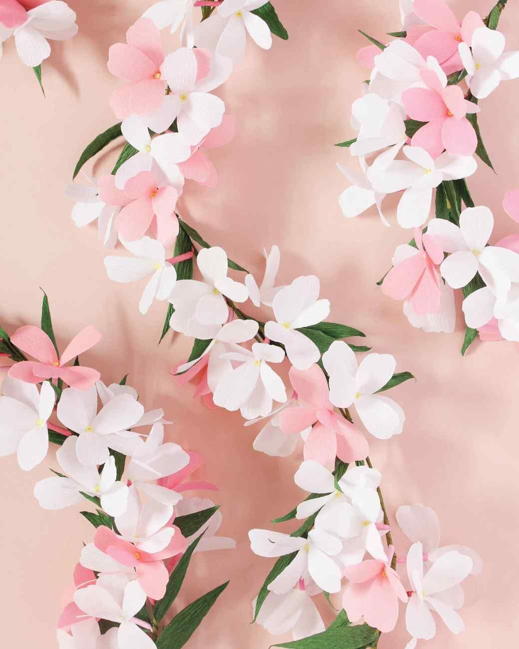 Paper Flower Garland Template Marthastewart Sites Files Jasmine Templatepdf
