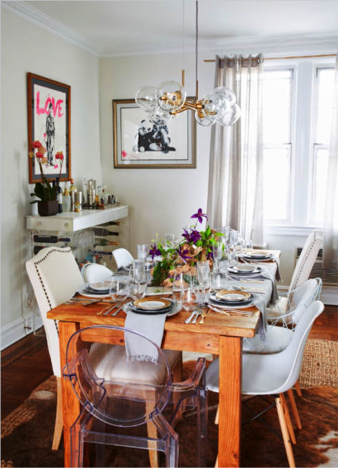 Brooklyn Love This Home Makeover By Mattcanedesigns For Homepolish Includes Dining Room