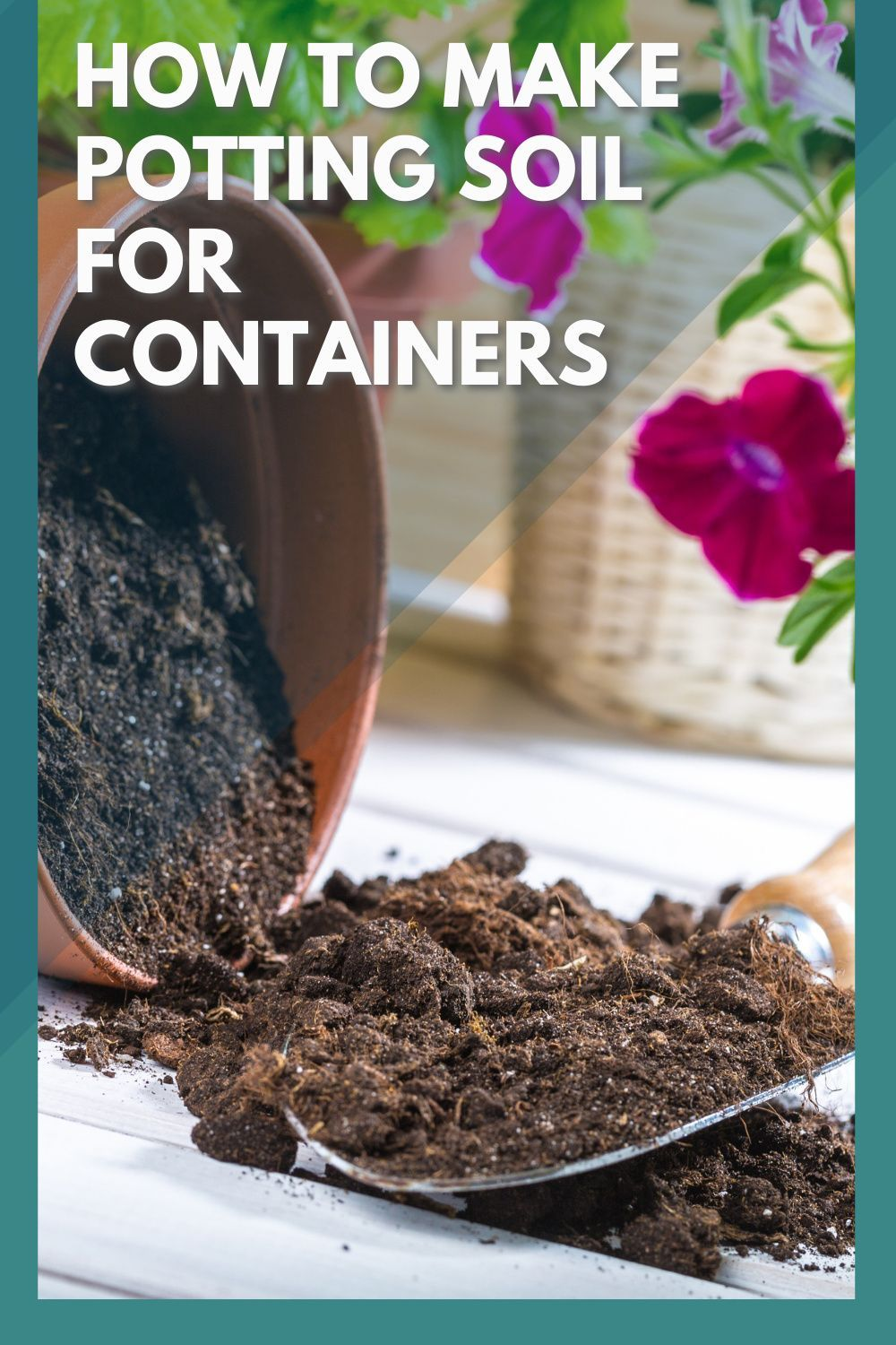 How to make potting soil for containers eco peanut in