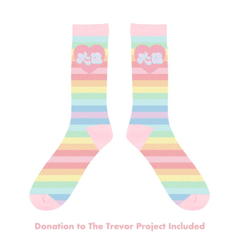 K 12 Rainbow Socks Melanie Martinez Giftryapp Rainbow Socks Melanie Martinez Melanie