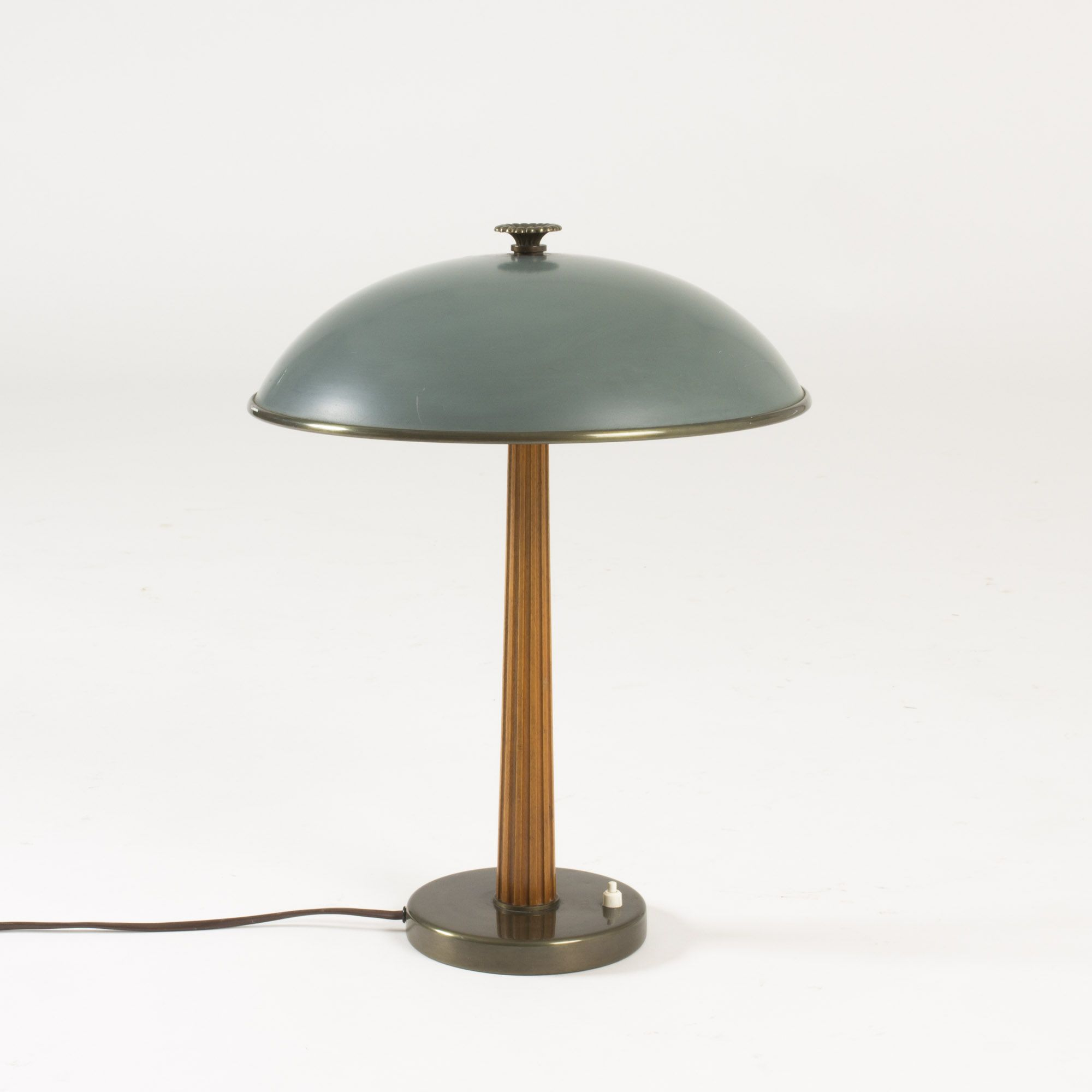 Beautiful Table Lamp From B Hlmarks, With A Brass Base,