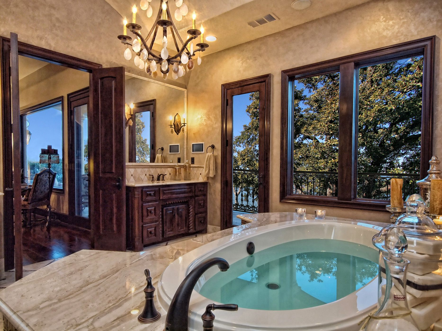 Luxury homes interior bathrooms - Luxury Mediterranean Bathrooms Bathrooms Horseshoe Bay Mediterranean Style Master