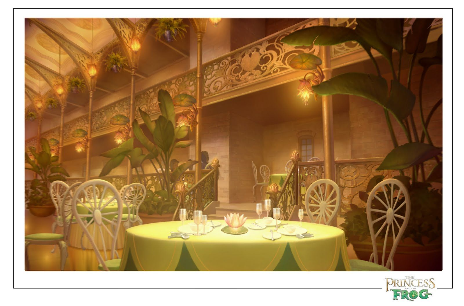 The Princess And The Frog Bg Paintings Lily Centerpieces The