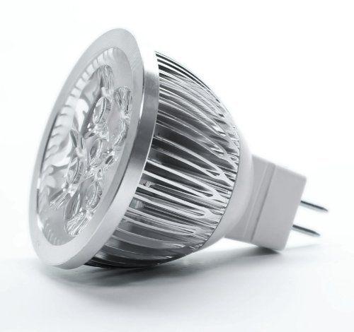Torchstar Led Mr16 3200k Warm White Spotlight 12v 4w 330 Lumen 50 Watt Equivalent 60 Degree Beam Angle By To Led Fluorescent Spotlight Bulbs Mr16 Led Bulbs