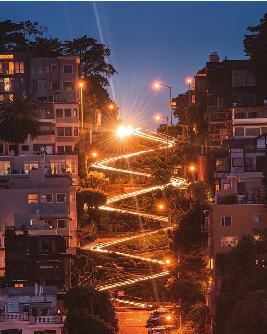Lombard Street at night by @gettyphotography #sanfrancisco #sf