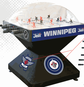 Winnipeg Jets Dome Bubble Hockey - www.gameroomguys.com