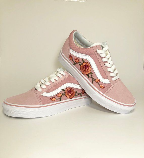 New Pink Vans old skool, custom vans shoes, Vans old skool