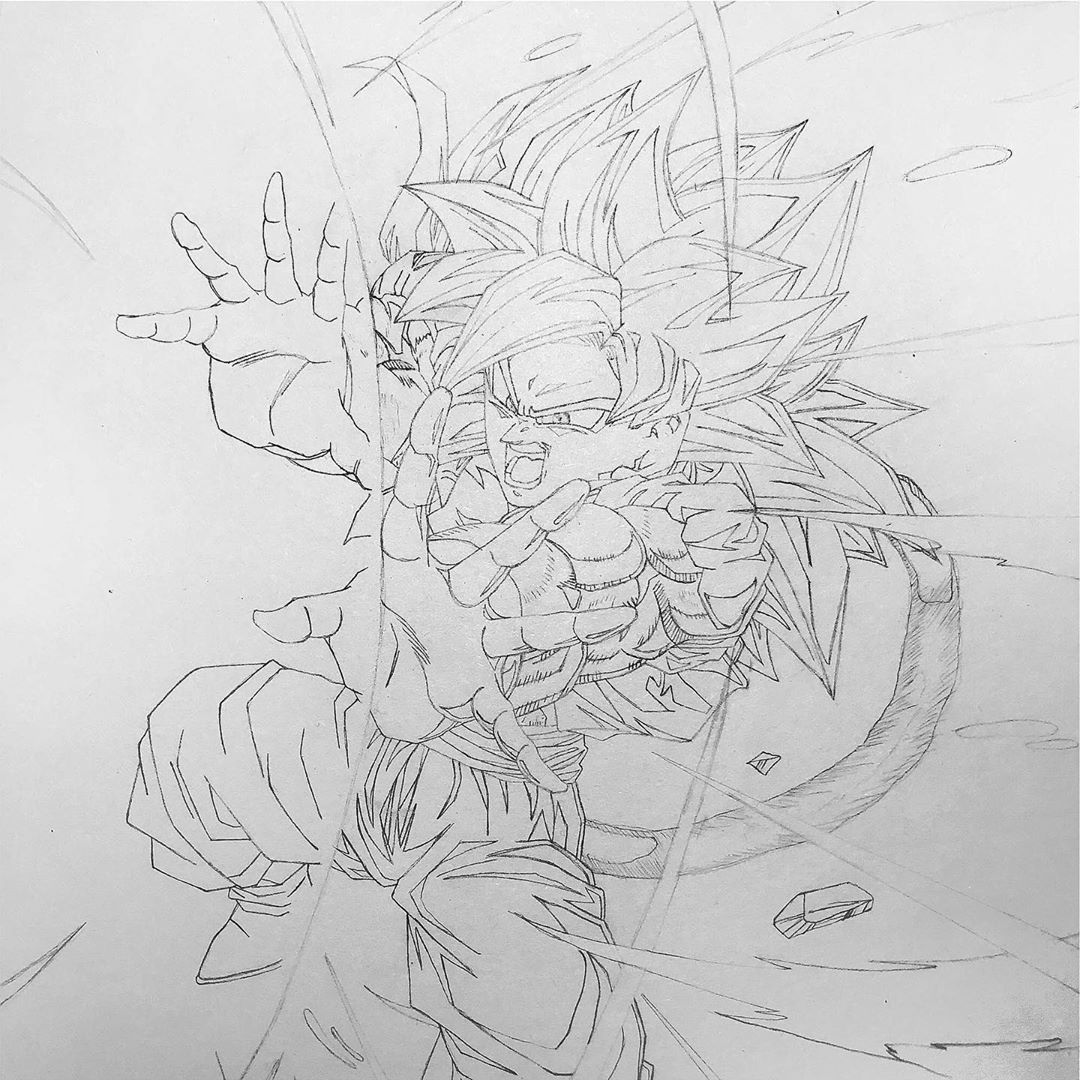 - Work in progress!   Hello guys, here is my Gogeta sketch. ... I'm so glad!  I'... #anime #animeart #animeartist #animedraw #animefeatureworld #art_4anime #arteza