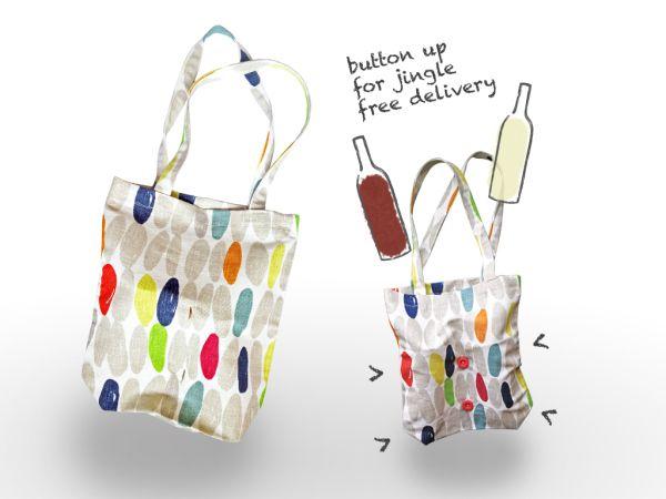 Fabric #shopping #bag for bottles.